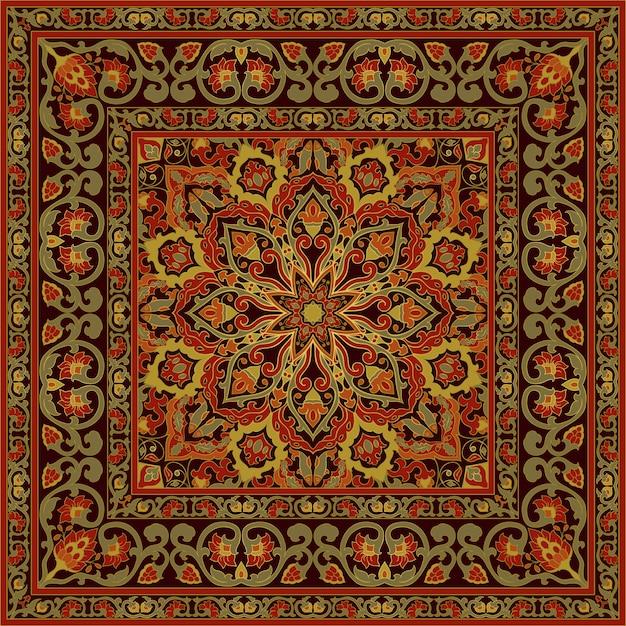 Orientalischer zierteppich.