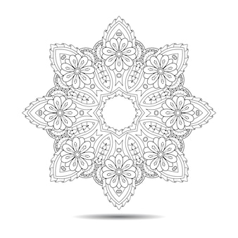 Orientalisches mandala-element
