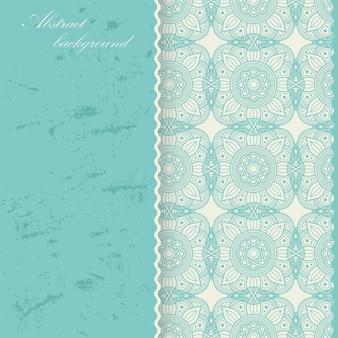 Orientalisches mandala-hintergrunddesign. asiatische, arabische dekorative verzierung