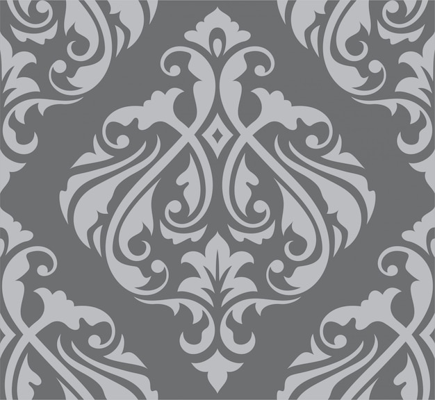 Orientalisches nahtloses damast-barockmuster