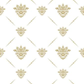 Orientalisches vektormuster mit arabesken blumenelementen
