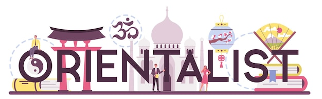 Orientalistischer typografischer header