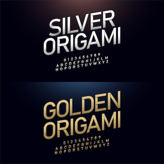 Origami-alphabet und japanpapier schnitt konzept