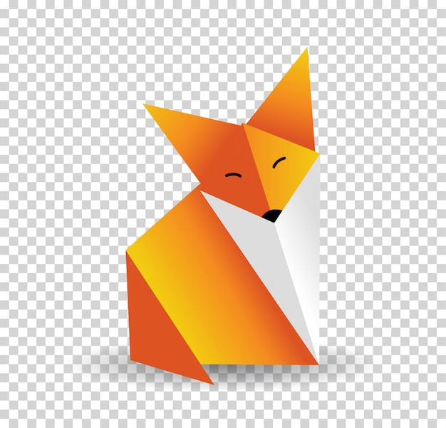 Origami-fuchs-vektor.