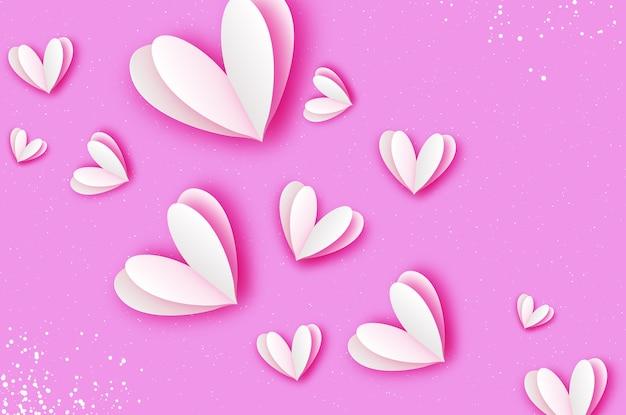Origami glücklicher valentinstag