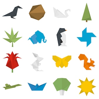 Origami-icons gesetzt