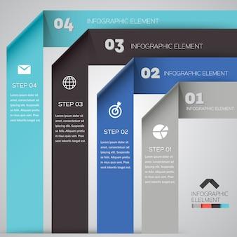 Origami infographik element vorlage. abstraktes modernes design.