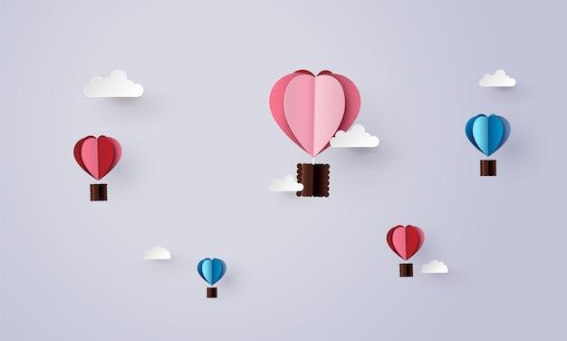Origami machte heißluftballon