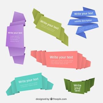 Origami papier banner