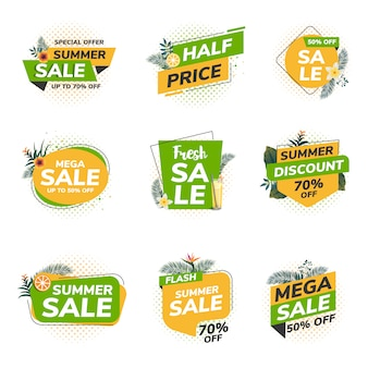 Origami summer sale labels