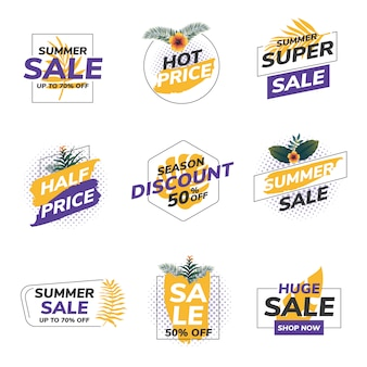 Origami summer sale labels