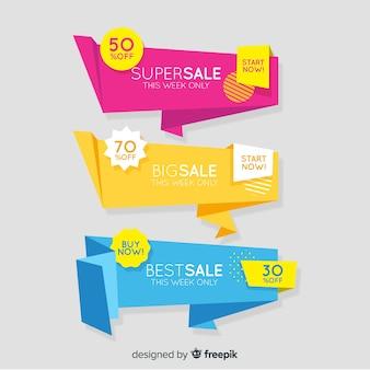 Origami-verkauf banner