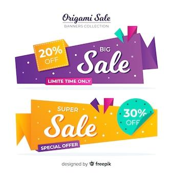 Origami-verkaufsfahnensammlung