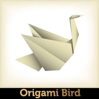 Origami vogel illustration
