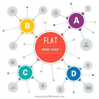 Original-diagrammvorlage mit flachem design