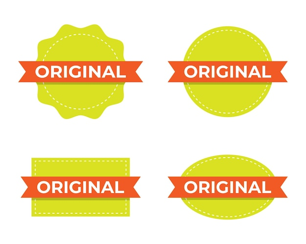 Original-etikettenstempelset.