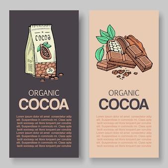 Original feinste schokolade banner vorlagensatz