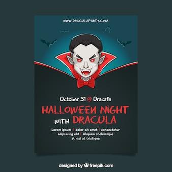 Original halloween-party mit vampir Kostenlosen Vektoren