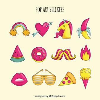 Original pack von pop-art-aufklebern