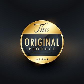 Original-produkt-label-vektor-design