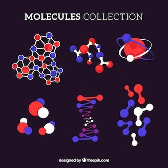Original-sammlung von flachen molekülen