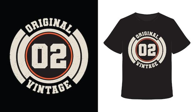 Original zero two vintage typografie t-shirt design