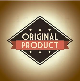 Originalprodukt über beige hintergrundvektorillustration