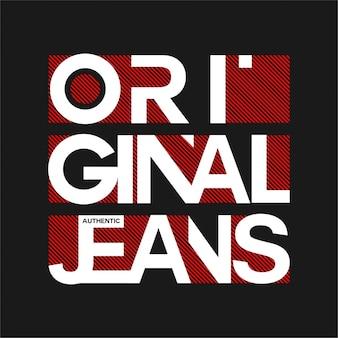 Originelle jeans - typografie
