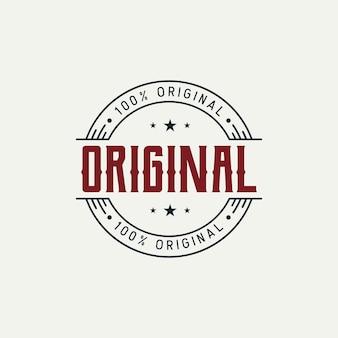 Originelles designkonzept für abzeichenetiketten