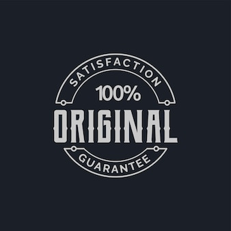 Originelles designkonzept für garantieetiketten