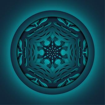 Ornament abstrakten hintergrund, laserschneiden mandala
