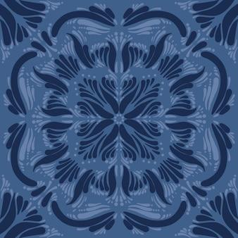 Ornament für keramik blau