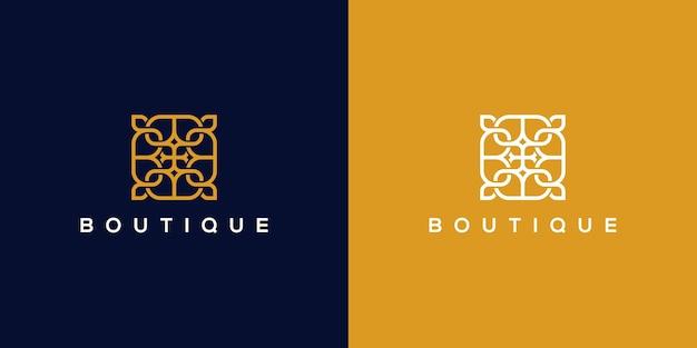 Ornament-logo-design mit strichzeichnungen. logos können für spa, schönheitssalon, dekoration, boutique verwendet werden