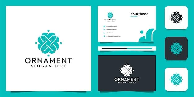 Ornament logo illustration vektor grafikdesign. gut für dekoration, marke, symbol, spa und visitenkarte
