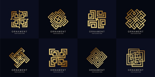Ornament logo set kollektion.