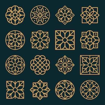 Ornament-logo und icon-design-set.
