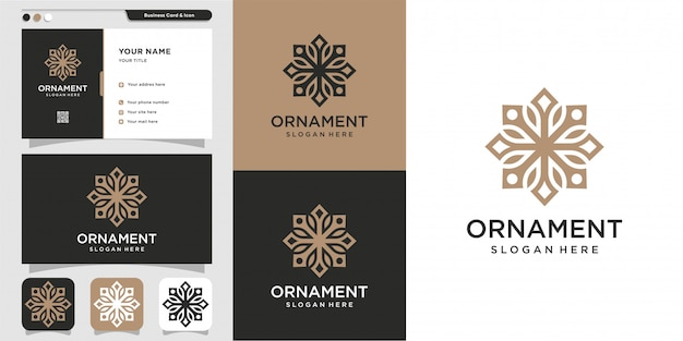 Ornament logo und visitenkarte design, luxus, abstrakt, schönheit, ikone