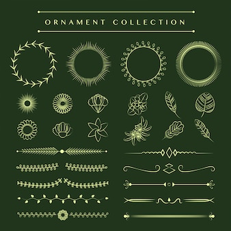 Ornament-sammlung vektor-design-konzept