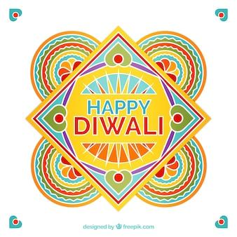 Ornamental diwali karte von abstrakten formen