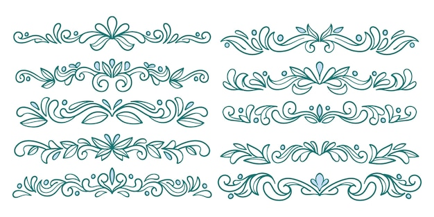 Ornamental fancy divider blue set