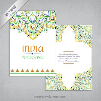 Ornamental indien grußkarte