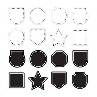 Ornamental label frames. alte aufwändige aufkleber, dekorativer weinleserahmen und retro- ausweis. königliche hochzeitsinsignien, verkaufsaufkleber oder einladungskarte. isolierte symbole festgelegt