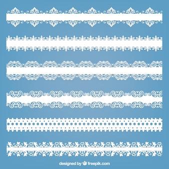 Ornamental lacy grenzen