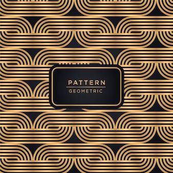 Ornamental linienmuster hintergrund in goldener farbe