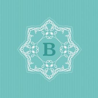 Ornamental-logo mit buchstaben b
