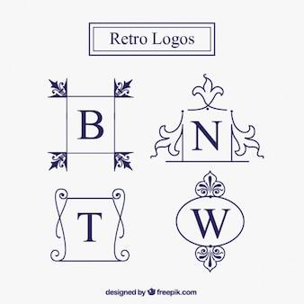Ornamental logos im vintage-stil