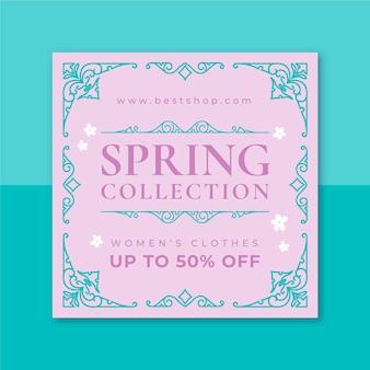 Ornamental monocolor spring instagram post vorlage