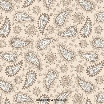 Ornamental paisley-muster