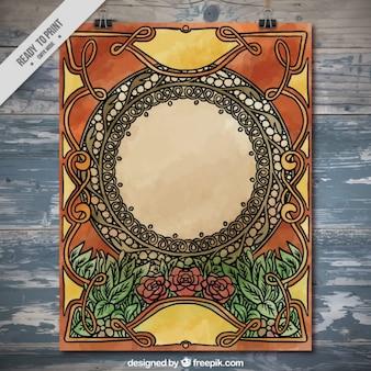 Ornamental plakat im jugendstil