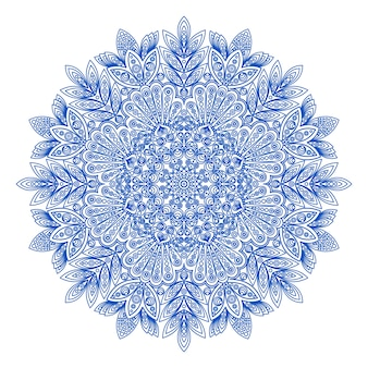 Ornamental runde schneeflocke muster